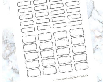 Stiched Half Boxes and Quarter Boxes/ Erin Condren/Printable