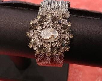 Vintage Signed Hobe Cameo Bracelet