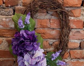 Hydrangea Wreath - CoccinellaDesigns