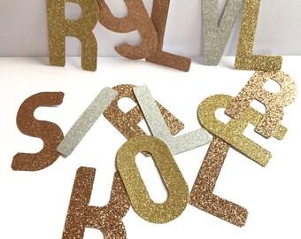 Rose Gold Alphabet Stickers