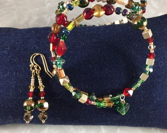 Holly and Ivy Bracelet and Earring Set