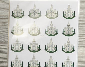 "40 St. George Utah Temple 1"" round stickers"