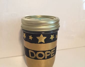 Striped stash jar with stars(without stars customizable)*