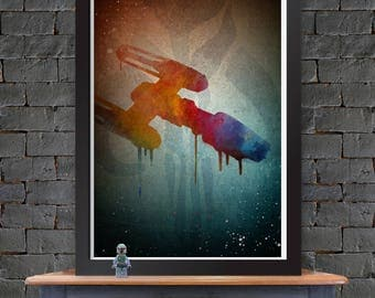 Y-Wing - Star Wars X-Wing Poster Lustre Print