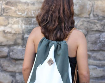 "Gymnastic bag Gym Bag ""triangle white/green"""