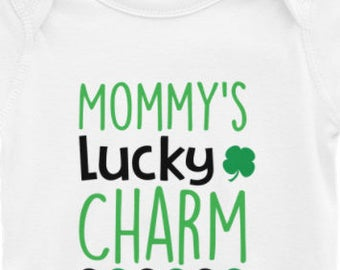 MOMMY'S LUCKY CHARM Shirt /body suit and Toddler