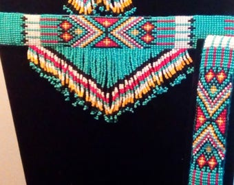 Native American beaded jewelry set