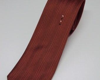 1960s Beau Brummell Copper Color Skinny Tie