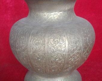 Ottoman Art Style Original Vintage Great Condition Antique Brass Urn #1350