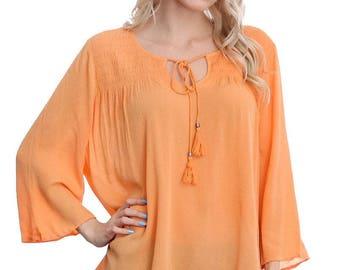 Beautiful peach blouse