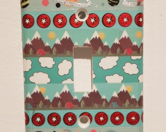 Mountains Space Clouds Switch Plate Cover