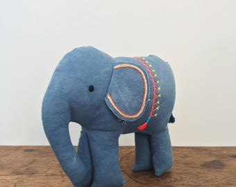 Handmade elephant softie