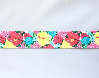 Watercolour Flowers 1.5 inch 38mm Grosgrain Ribbon for Hair Bows Scrapbooking Crafts Party Cake Birthday Decoration