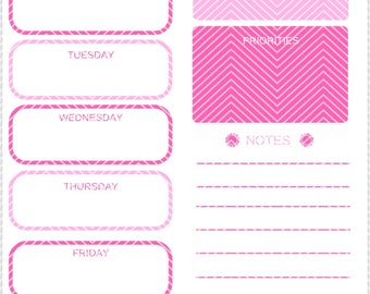 Weekly Planner| Instant Download