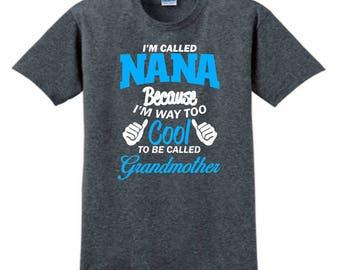NANA GIFT, Custom T-Shirt, Personalized T-Shirt, Nana Gifts, Nana Shirt, Custom Tees, For Nana, Grandma Gifts, New Nana Gift, Gift For Her