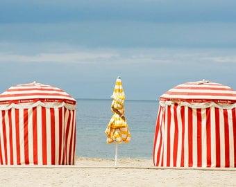 Deauville beach - umbrellas