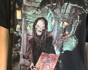 1994 Tales From The Crypt Rare Vintage Crypt Keeper Cult Classic 90's HBO Horror TV Show Live Action Comic Book Series T-Shirt faded
