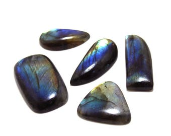 156.30cts Natural Multi flash Labradorite Mix Lot  5 peace  Labradorite loose gemstone amazing & beautifull Labradorite nice flash AA-40