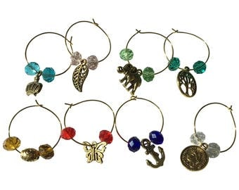 Wine Glass Charms- Set of 8
