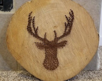 Deer Silhouette String Art