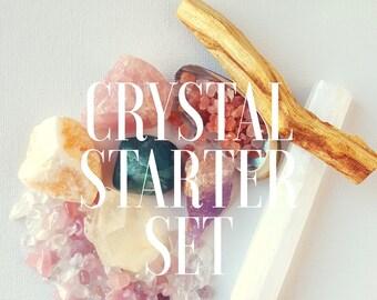 Crystal Starter Set | Reiki Charged Gemstones