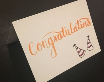 Hand Drawn Congratulations Card