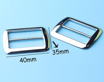2pcs Buckle Triglide Strap Keeper for 30mm strap  Leathercraft Bag Belt Adjuster Triglide Strap slide 40*35mm tjk7