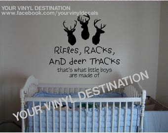 Rifles, Racks & Deer Tracks Decal