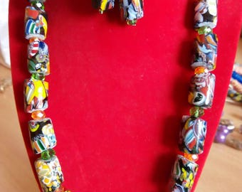 Modern Krobo beads with Crystals
