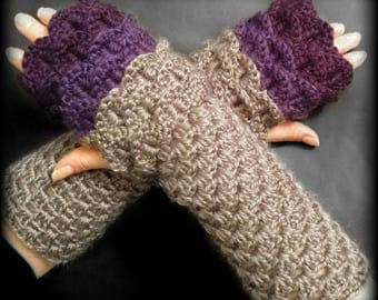 Crochet Dragon Scale Fingerless Gloves