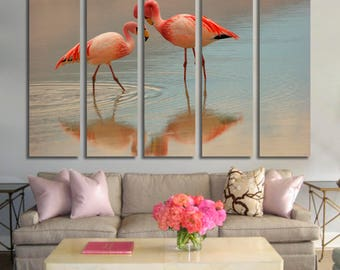 Flamingo Wall Art Flamingo Canvas Print Flamingo Large Wall Decor Flamingo Canvas Art Flamingo Painting Flamingo Poster Print Flamingo Decor