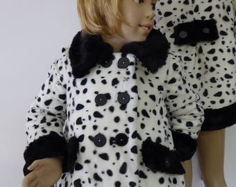 Girls' coat Dalmatian