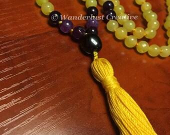 Yellow Jade - Handmade Mala