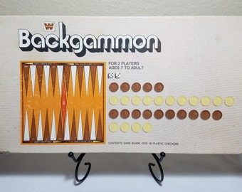 Backcammon by Whitman Western Made in USA 1973