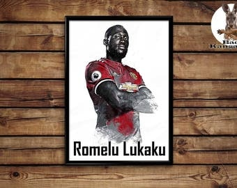 Romelu Lukaku  print wall art home decor poster
