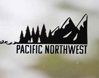 "Pacific Northwest Vinyl Decal-""Ocean to Mountains"""