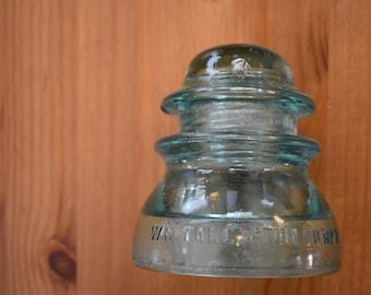Whitall Tatum No 1 - 37 Blue Green Glass Insulator