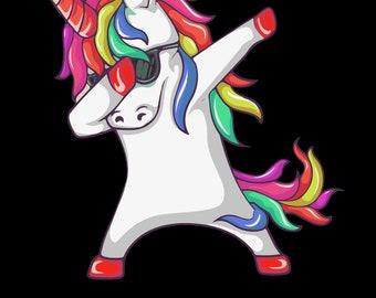 Funny Dabbing Unicorn Shirt
