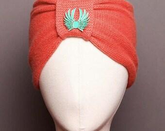 Foamy headband 100% cashmere