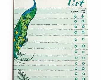 coworker gift ideas, daily to-do list, to do list pad, teacher gifts, best co-worker gifts teacher planner notepad peacock decor, work gifts