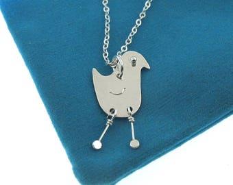 Mid Century Modern Style Bird Necklace, by Kathryn Riechert
