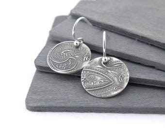 Silver Earrings Dangle Earrings Silver Paisley Earrings Unique Boho Gift for Her Bohemian Jewelry Holiday Gift for Wife - Unique Petites