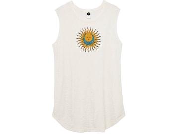 Boho Celestial Sun Moon Graphic T-Shirt • Printed Bohemian Tank Top • Sleeveless Print Tees • Vintage Inspired Eco Friendly Womens Shirts