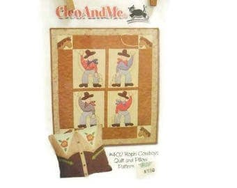 Western Style Quilted Wallhanging & Pillow Pattern | Ropin' Cowboys Kid's Wall Quilt