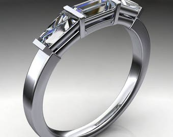 Private Listing for Tracey - riva ring - ZAYA moissanite baguette wedding band, baguette anniversary band