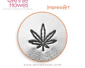 Impressart Metal Stamp  - Hemp Leaf Design Stamp Pot Leaf Stamp Alternative Symbol