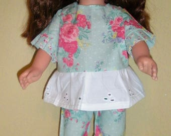 Roses & Eyelet pants suit---doll clothes---doll pants