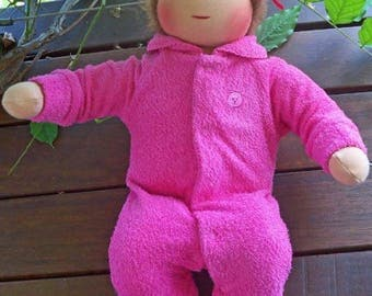"16"" Waldorf Baby Doll Pattern Limbs Sewn Into Body dolls natural: Instant Download"