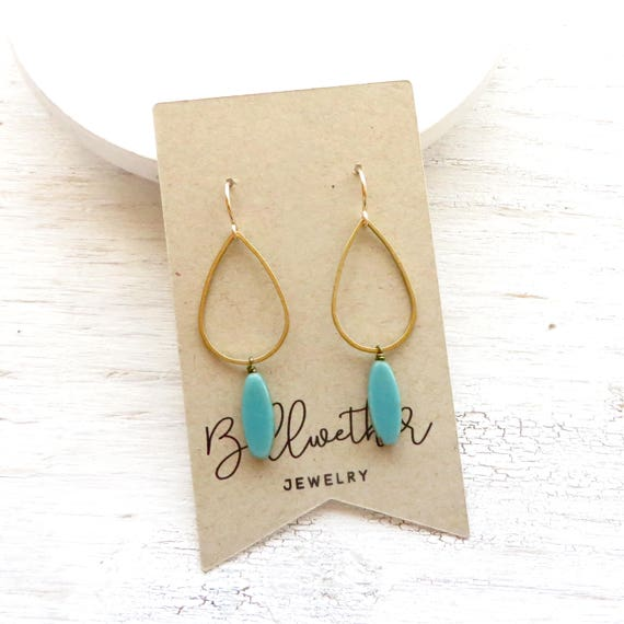 WHOLESALE LISTING // Balance Earrings - Turquoise // EBT