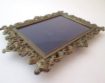 Vintage Frame Set, 4x6 frame, Brass Picture Frame, Italy frame, ornate metal frame, Baroque frame, filigree picture frame, 6x4 frame